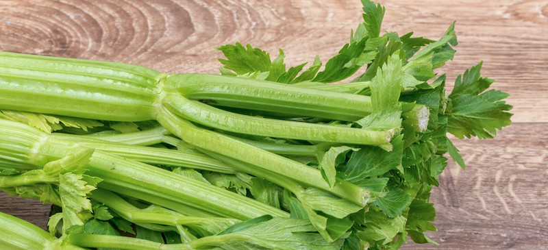 celery on a wooden table
